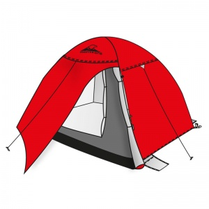 Shelter 4P igloo tent