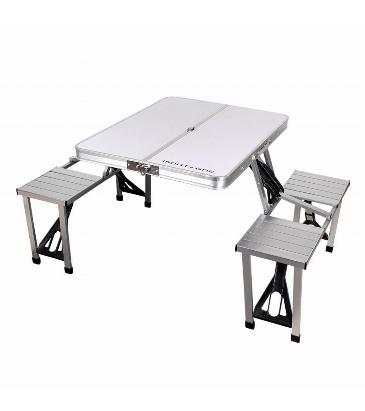 Personas De Aluminio Para 4 Plegable Mesa QrdECBxoeW
